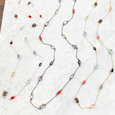 Copy of Grey and White Layering necklace - Anna Balkan