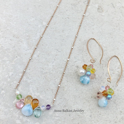 Limited Edition Perfect Gift Colorful Larimar Necklace - Anna Balkan