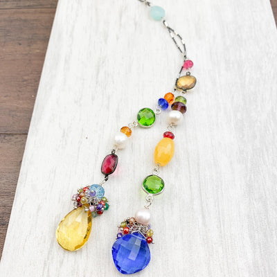 Popart Colorful Natalie Lariat Necklace - Anna Balkan