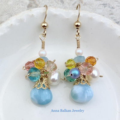 Limited Edition Larimar Earrings - Anna Balkan