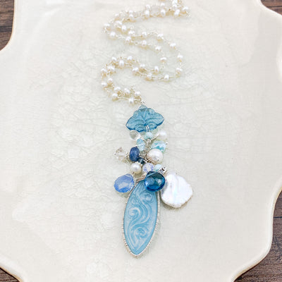 carved aquamarine necklace