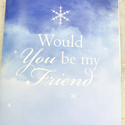 Would You Be My Friend Book - Anna Balkan