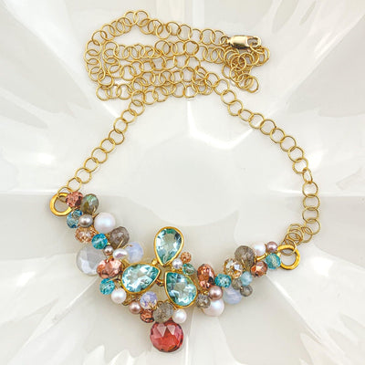 aqua topaz ray necklace