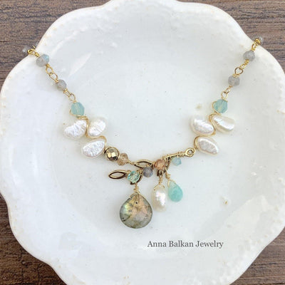 Blossoming Branch with Labradorite Necklace - Anna Balkan
