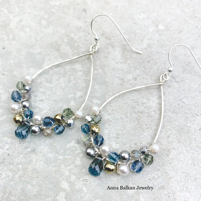Black and White Anna Signature Hoops - Anna Balkan