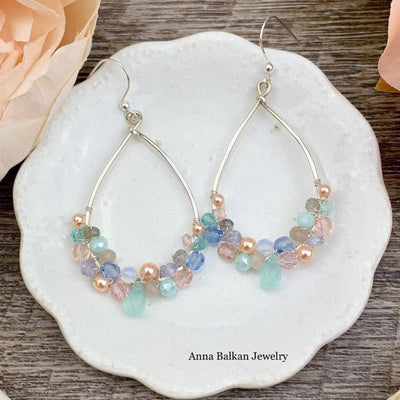 The Young and the Restless Lavender Soft Colors Gemstone Hoops