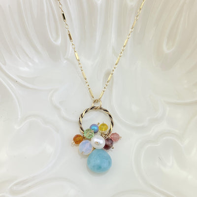 Larimar Everyday Pendant Style Necklace - Anna Balkan