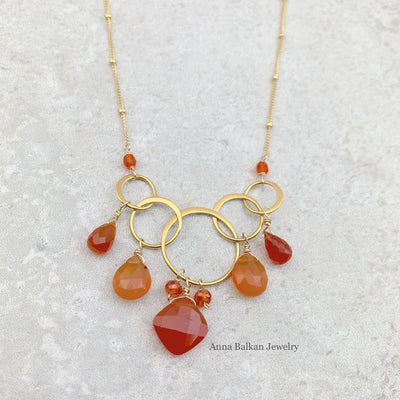 Feeling Inspired Carnelian Necklace - Anna Balkan