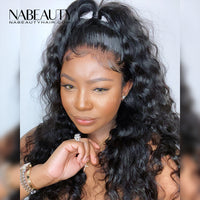 Lace Front Fake Scalp Human Hair Wigs Brazilian Loose Body Wave Wig PrePlucked With baby hair