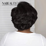 Glueless Full Lace Human Hair Short Wigs Pixie Cut Bob Wigs Full Lace Black Wigs For Women Vrigin Hair 150%