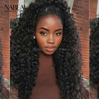 Deep Curly Skin Melt Front Lace Wig Front Lace Human Hair Wigs Pre Plucked Bleached Knots
