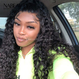 Undetecable Melt skins Water Wave Front Lace Wig 250% Density Pre-plucked Natural Hairline With Fake Scalp
