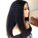 Kinky Curly Wig Front Lace Human Hair Wigs For Black Women Pre Plucked With baby hair