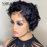 Pixie Curly Cut Bob Wigs Short Wigs For Women Vrigin Hair 150%