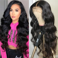 Glueless Full Lace Human Hair Wigs Pre Plucked With Baby Hair Body Wave Full Lace Wig For Women