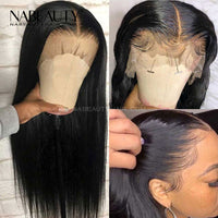 13x6 T Part Lace Wig Human Hair Lace Frontal Wigs PrePlucked Straight Vrigin Hair Swiss Lace