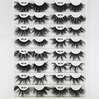 New 7/10 pairs natural false eyelashes fake lashes long makeup 3d mink lashes eyelash extension mink eyelashes for beauty
