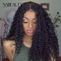 Deep Curly 5x5 HD Transparent Lace Closure Wigs Affordable Lace Front Wigs Pre Plucked Natural Hairline Wigs