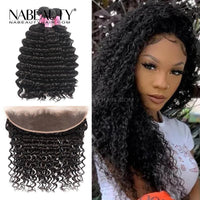 Frontal Wig | 13x4 Frontal With 3 Bundles Deep Wave Nabeauty Virgin Hair 300%Density