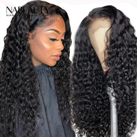 Frontal Wig | 13x4Frontal With 3 Bundles Deep Curly Nabeauty Virgin Hair 300%Density