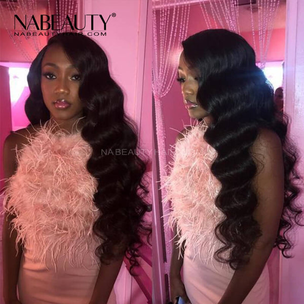 Body Wave Lace Front Fake Scalp Human Hair Wigs Brazilian PrePlucked With baby hair