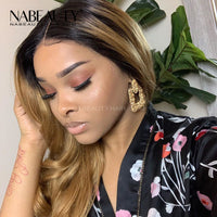 Honey Bloned Body Wave Lace Front Human Hair Wigs With Baby Hair Pre Plucked  Bleached Knots