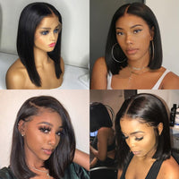 KIM.K HD LACE Bob Wigs Front Lace Human Hair Wig Pre Plucked Hairline With Baby Hair