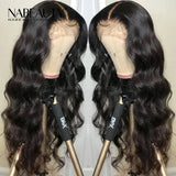 HD Lace Front Fake Scalp Human Hair Wigs Brazilian Body Wave Wig PrePlucked With baby hair
