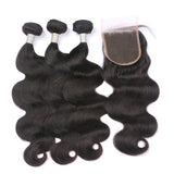 Closure Wig | Body Wave HD Lace Closure 4x4 With 3 Bundles Nabeauty Virgin Hair
