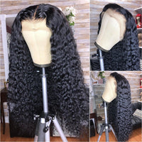 Curly Human Hair Wig Brazilian Vrigin Hair PrePlucked With Baby Hair Glueless HD Full Lace Human Hair Wigs