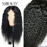 Curly Wig Lace Front Human Hair Wigs Pre Plucked Natural Hairline Brazilian With Baby Hair