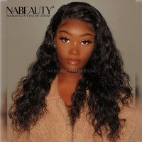 Undetecable Melt skins Water Wave Front Lace Wig Pre-plucked Natural Hairline With Fake Scalp