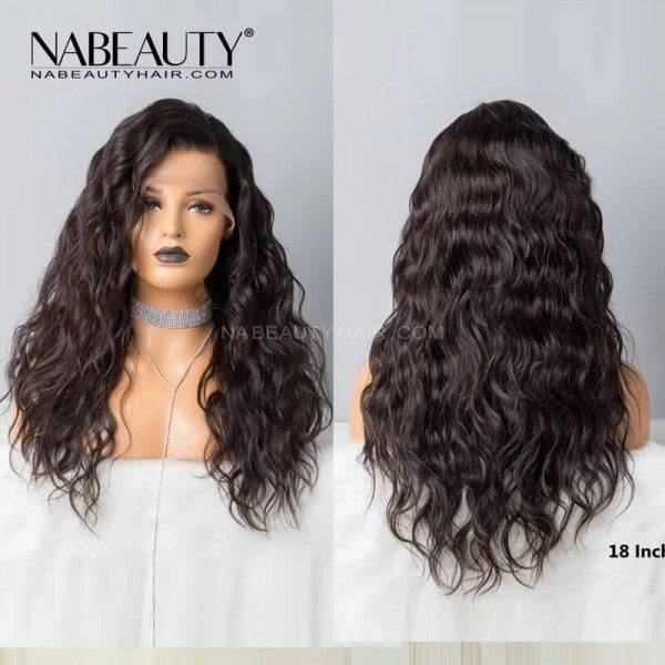 Natural Wave Front Lace Wigs Pre Plucked with Baby Hair  Brazilian Hair Lace Front Human Hair Wigs
