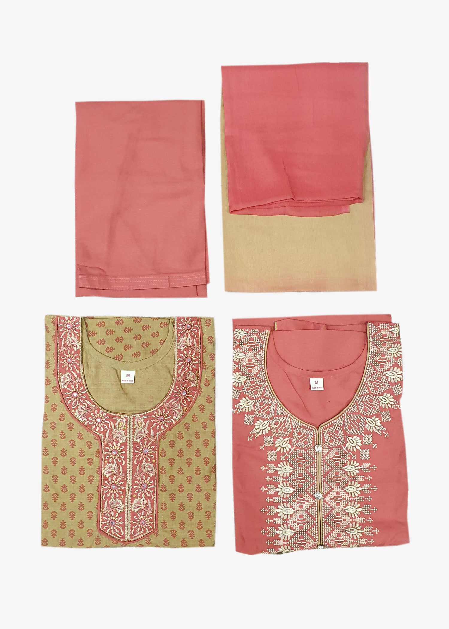 Light Rust-Beige 4 Piece Salwar Suit