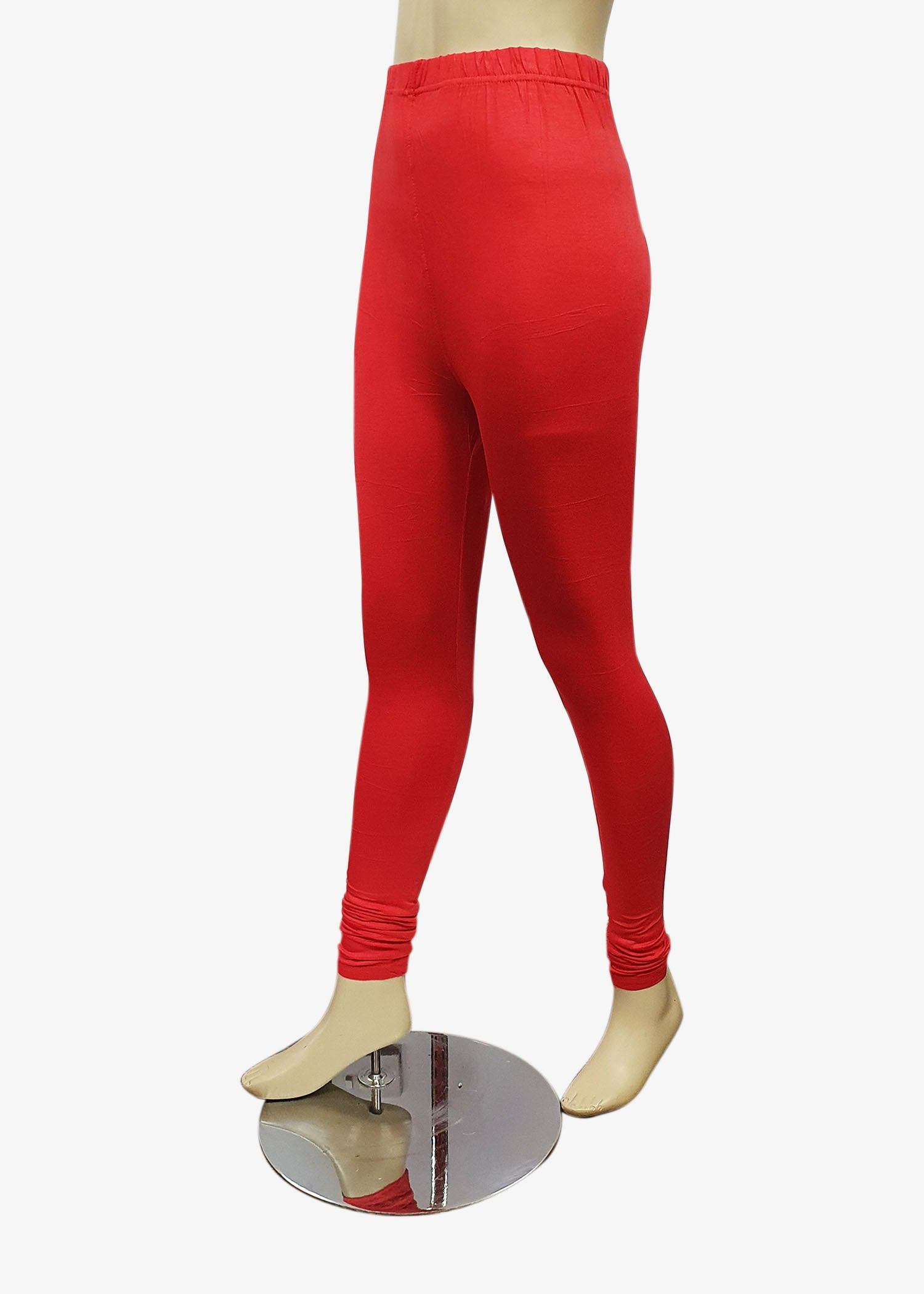 Red Churidar Leggings