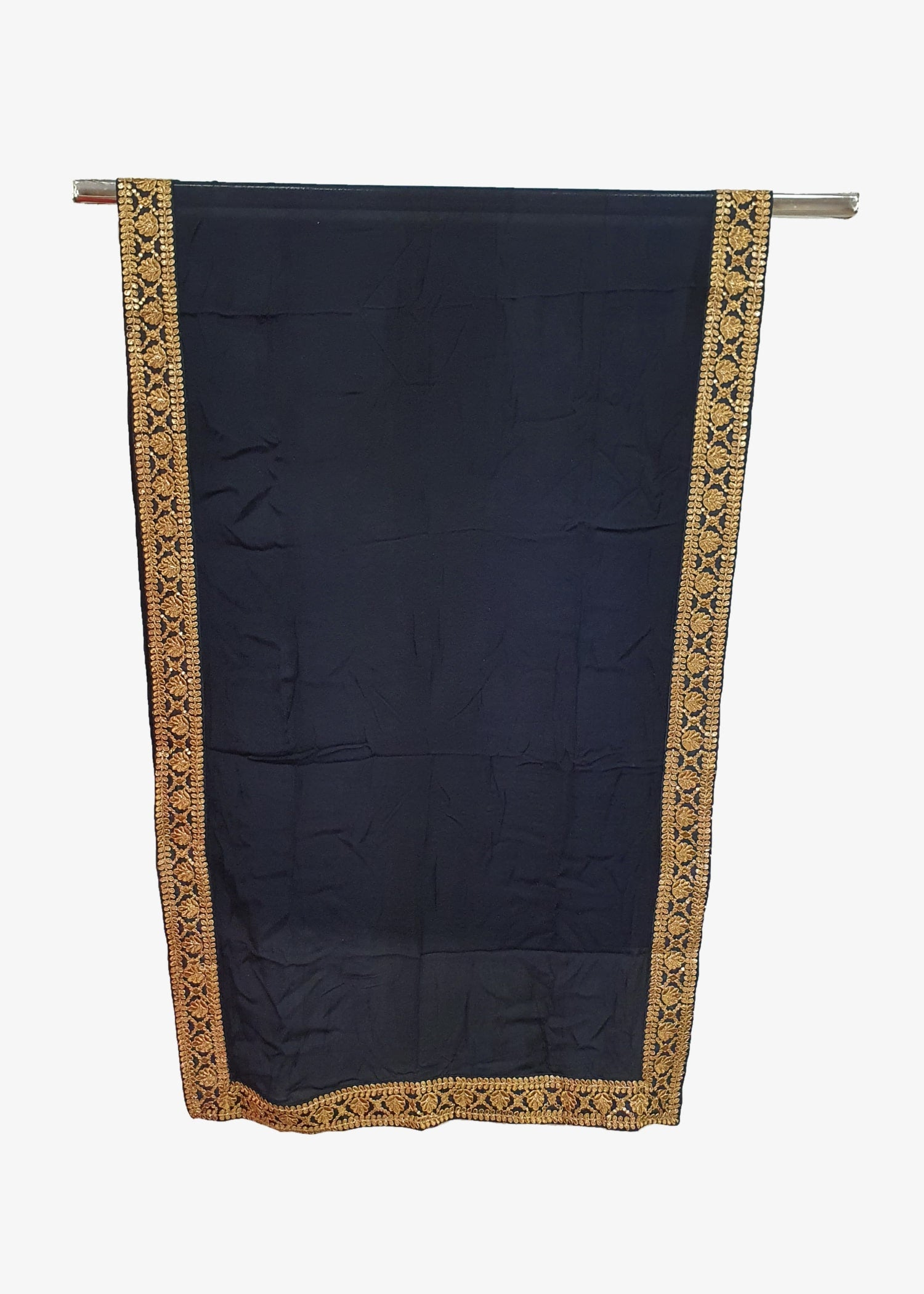 Navy Blue Mens Georgette Shawl
