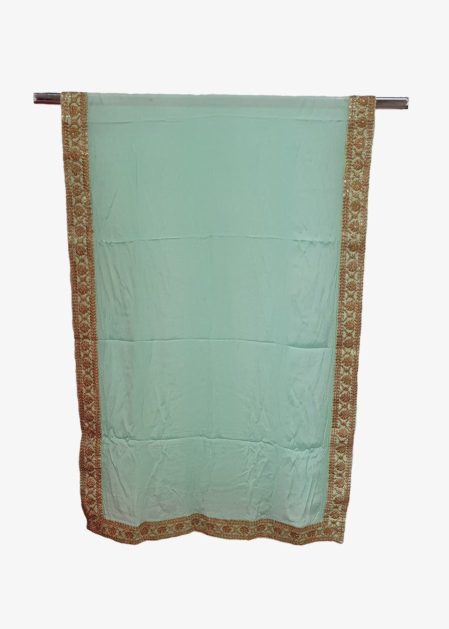 Mint Green Mens Georgette Shawl
