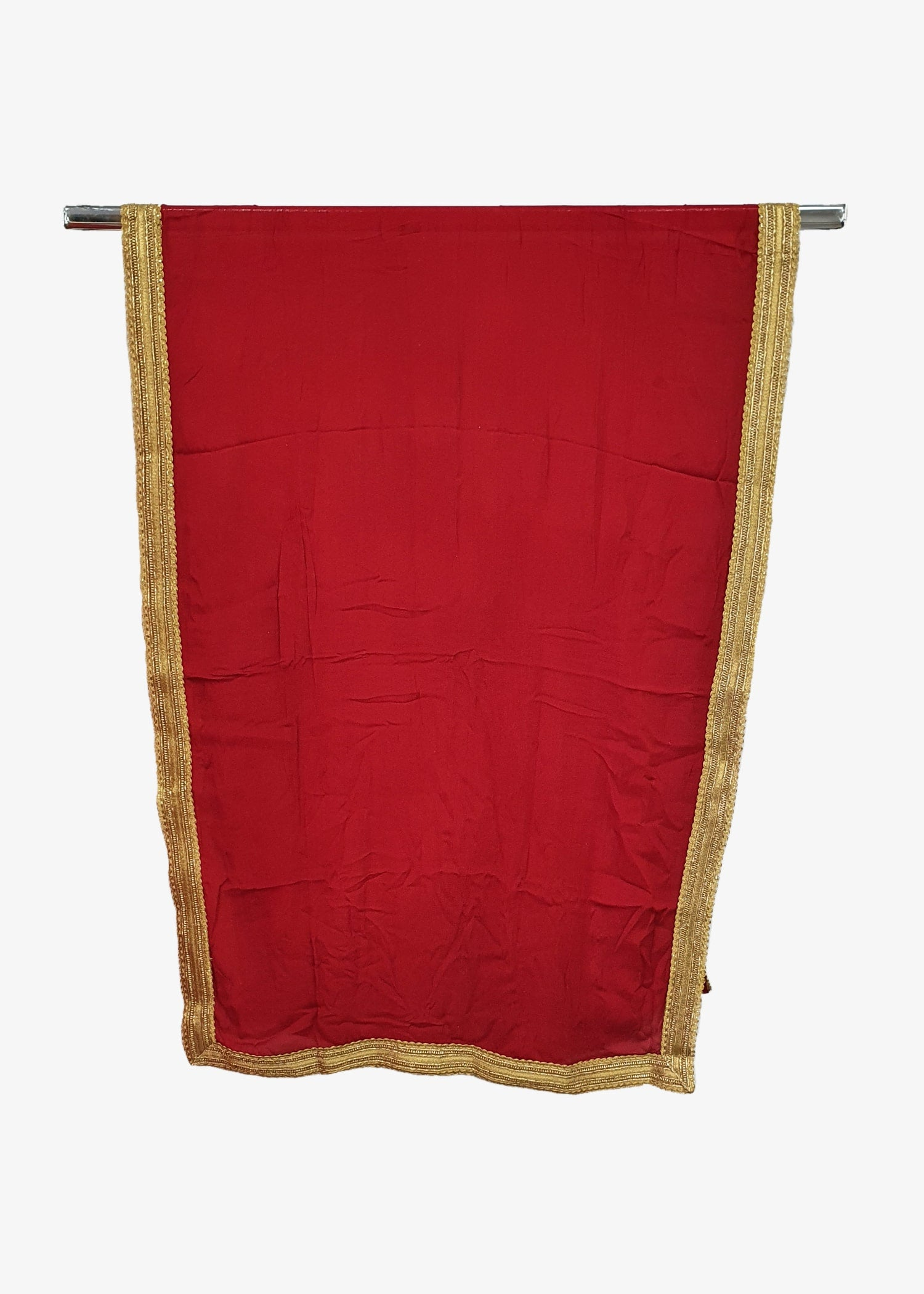 Red Mens Georgette Shawl