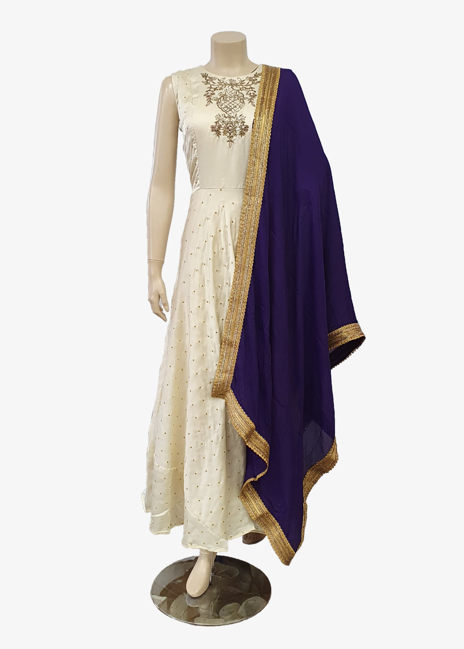 Purple Georgette Dupatta