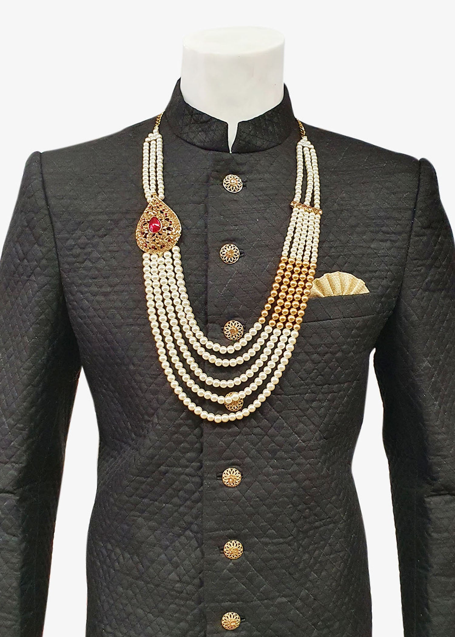 Men's Light Gold with Broach Necklace