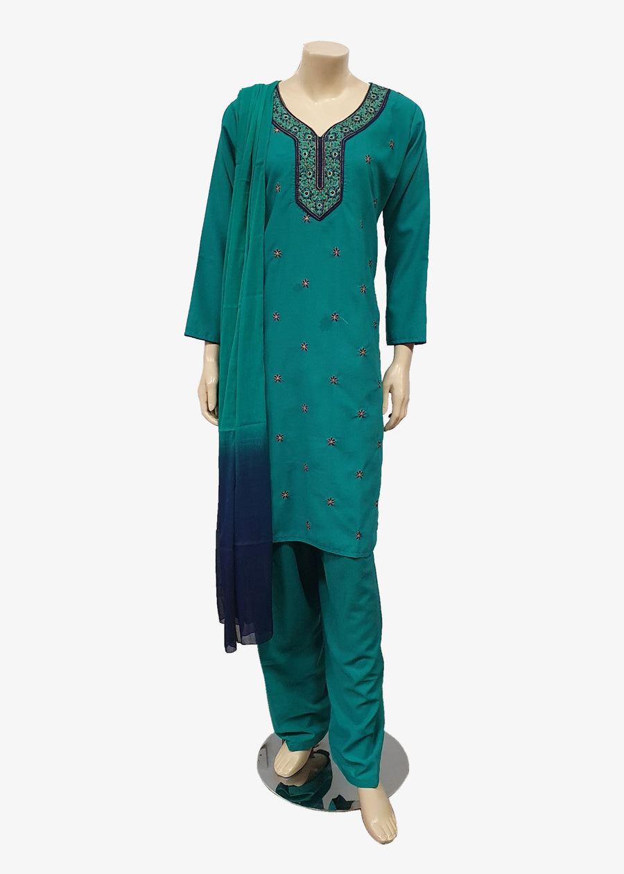 Navy Blue 4 Piece Salwar Suit