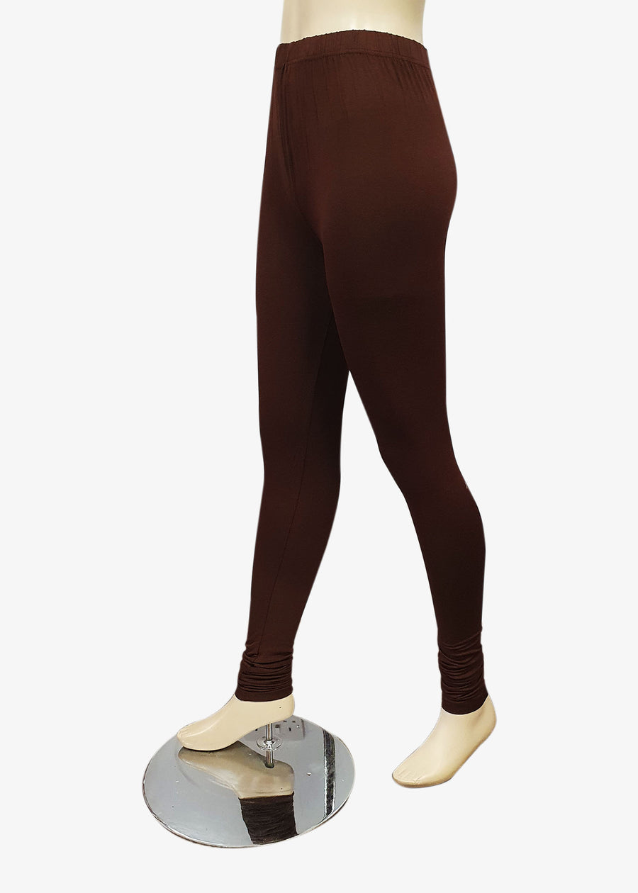 Brown Churidar Leggings