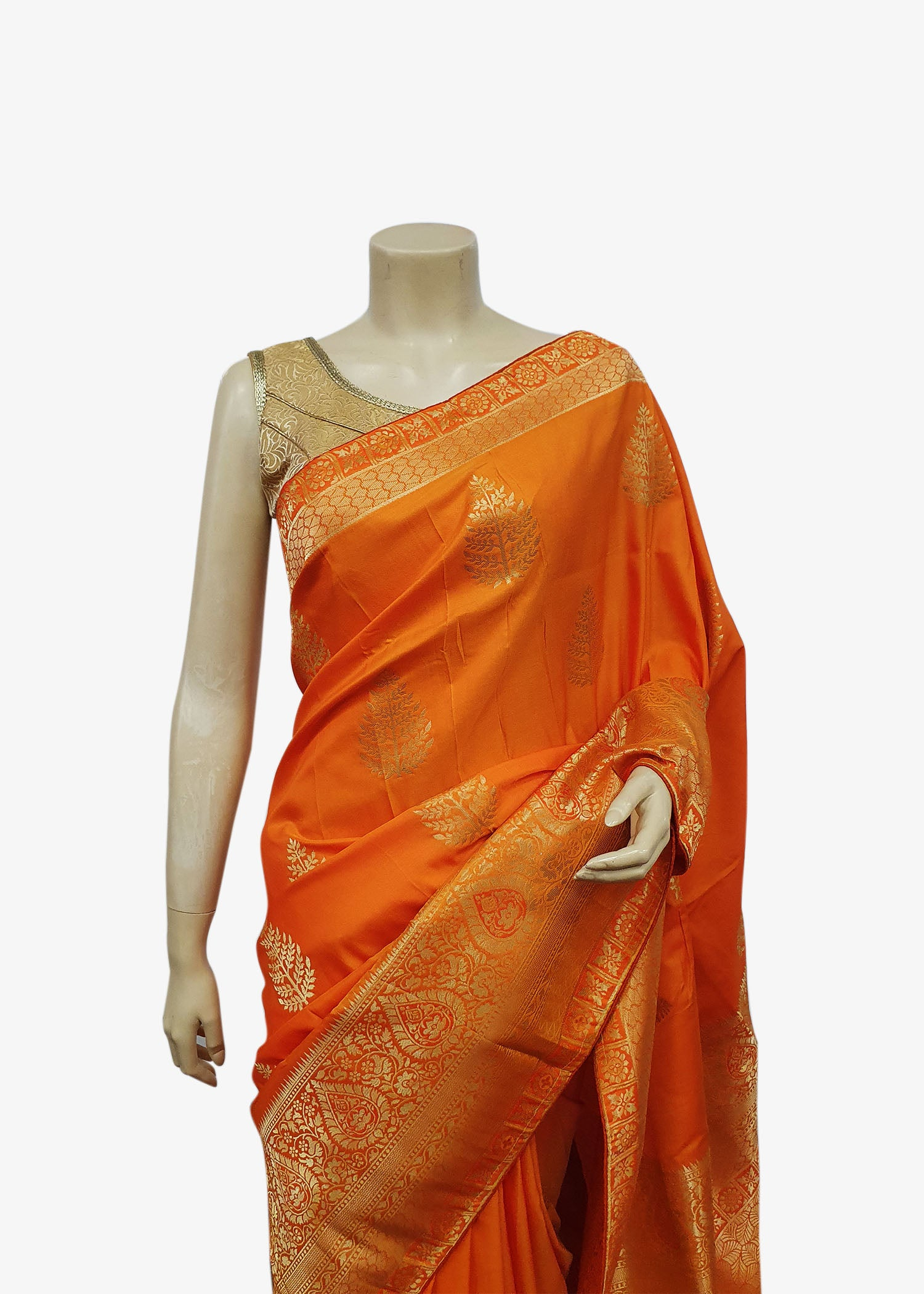 Yellow Shaded Art Silk Saree