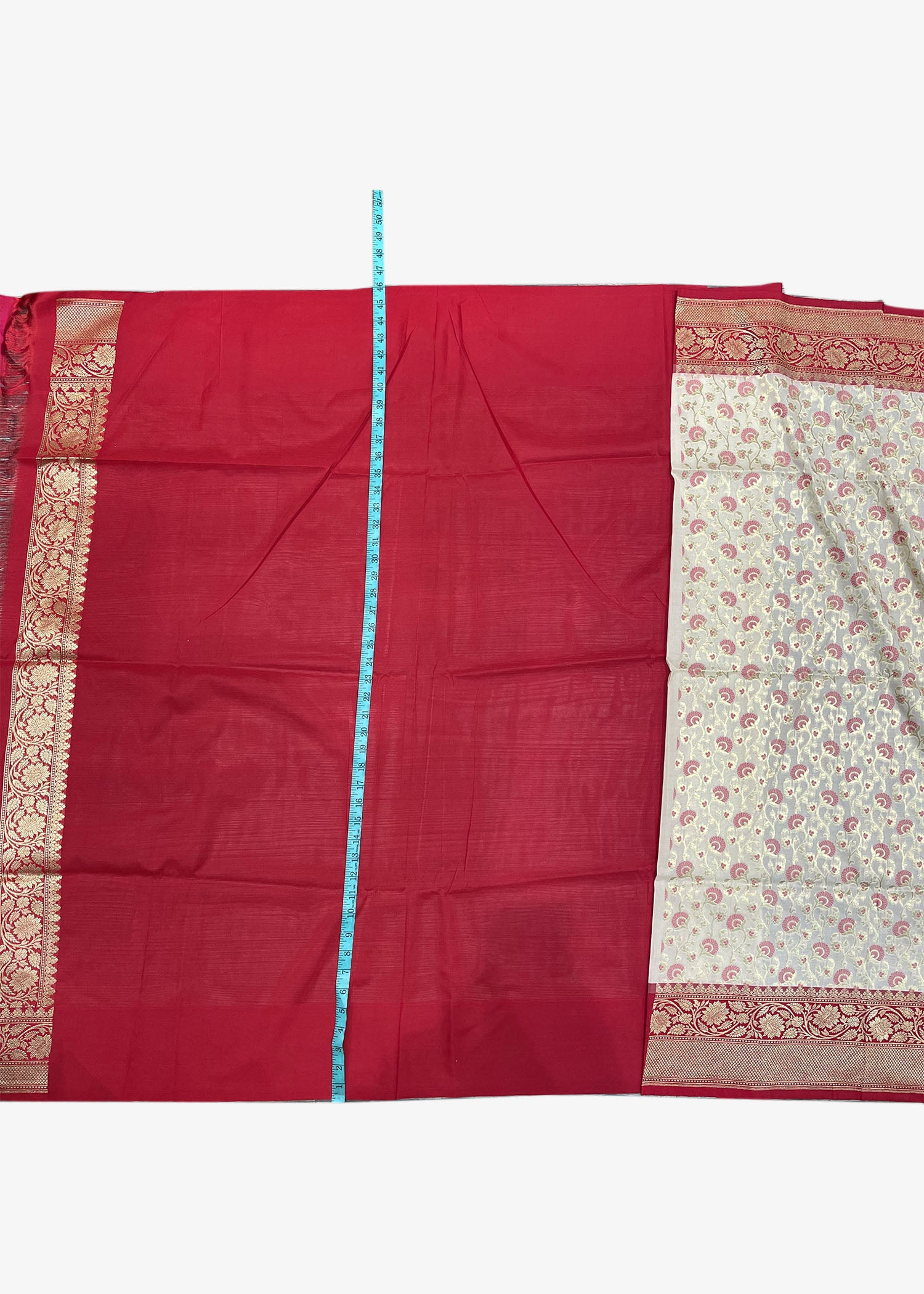 Cream Banarasi Saree In Silk With Weaved Floral Jaal Work