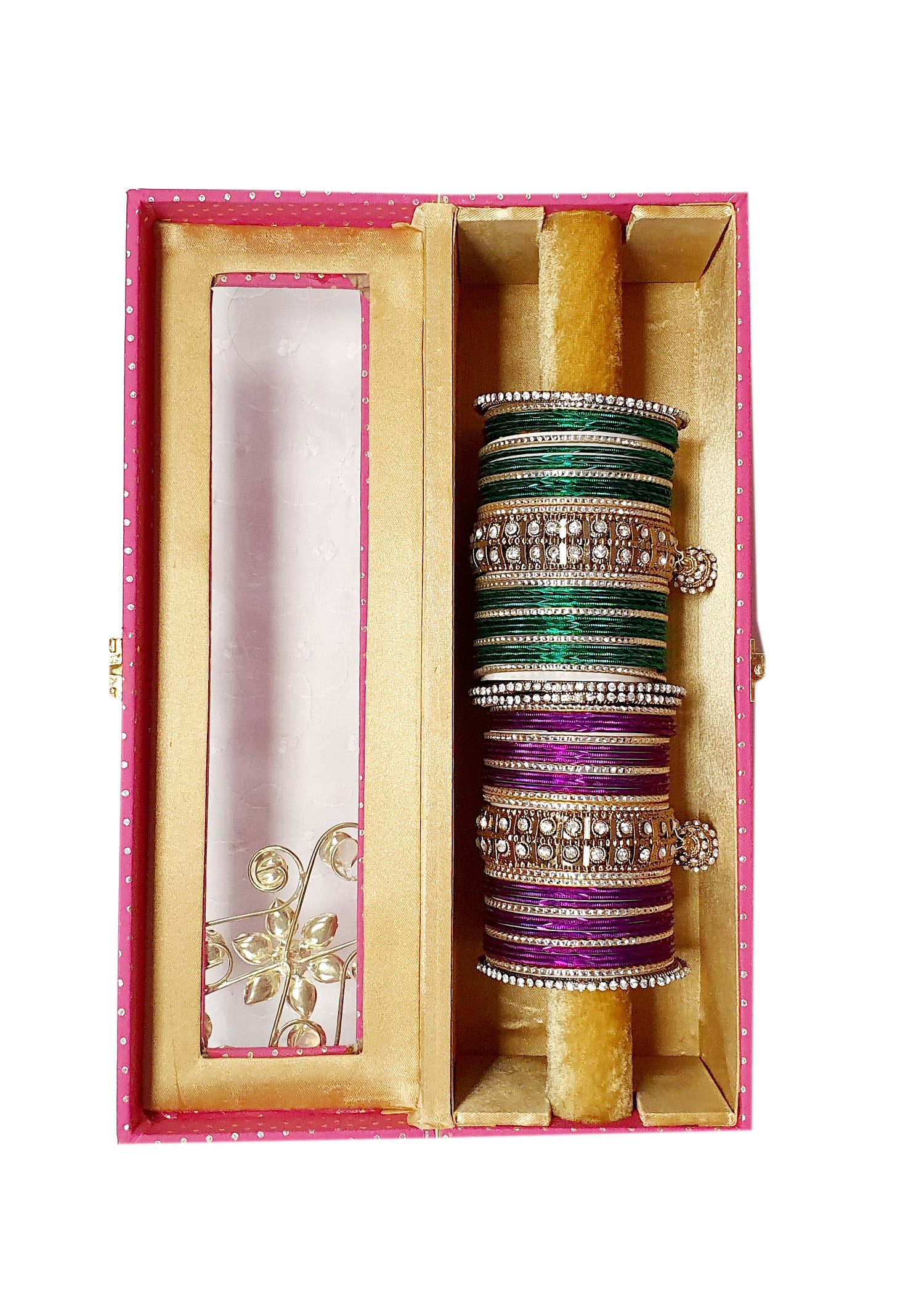 Pink One Bar Decorative Bangle Box.