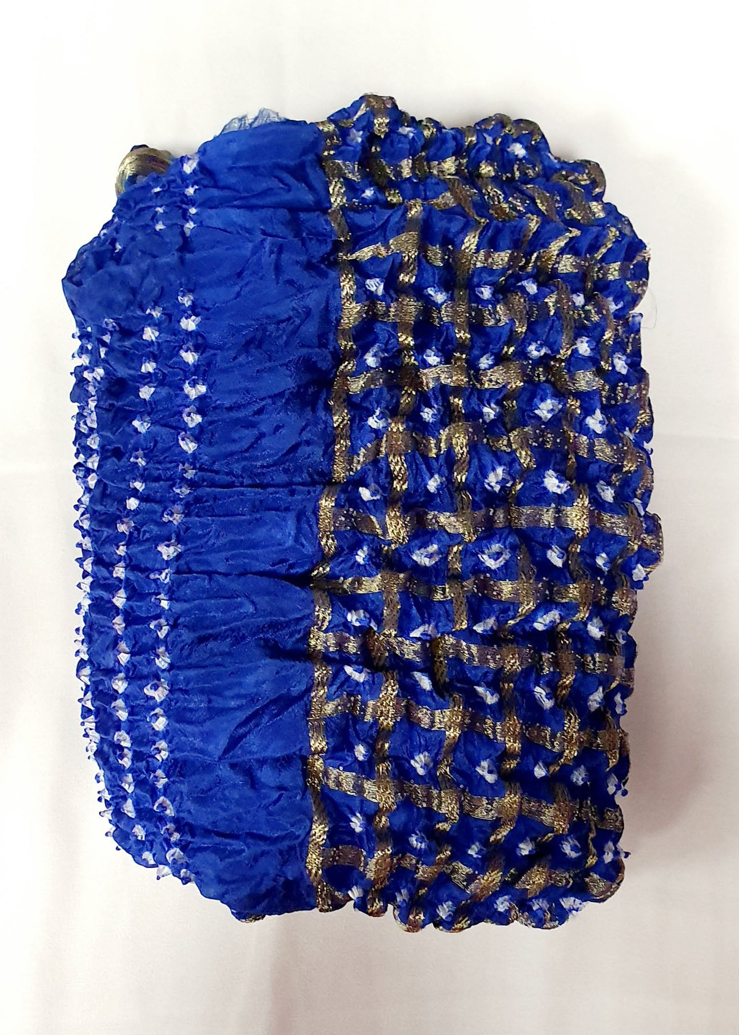 Navy Blue Traditional Bandhani Dupatta