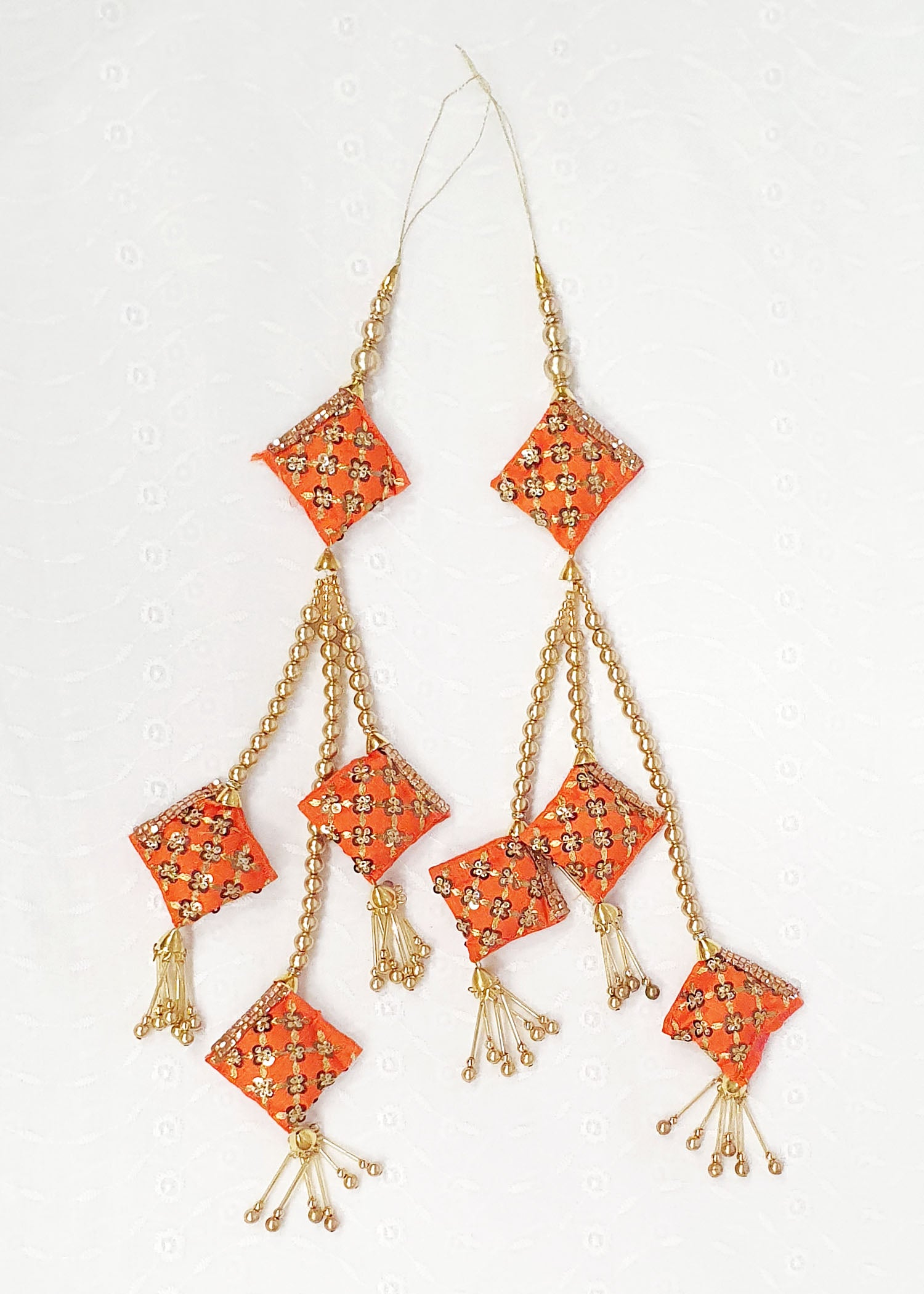 Two Piece Orange Tassel Set