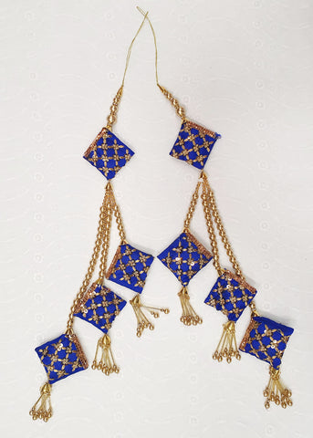 Two Piece Royal Blue Tassel Set