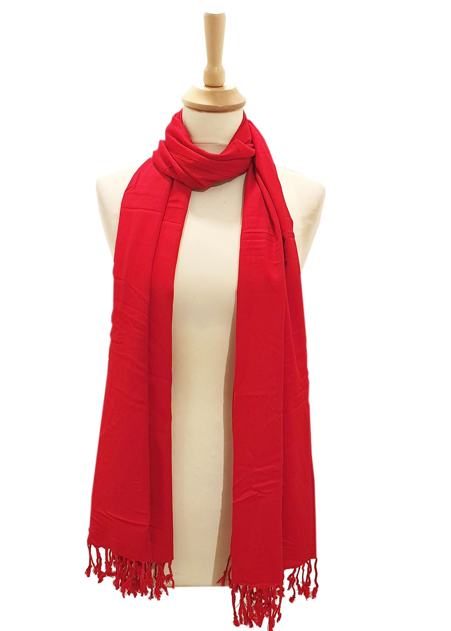 Classic Red Silk Scarf