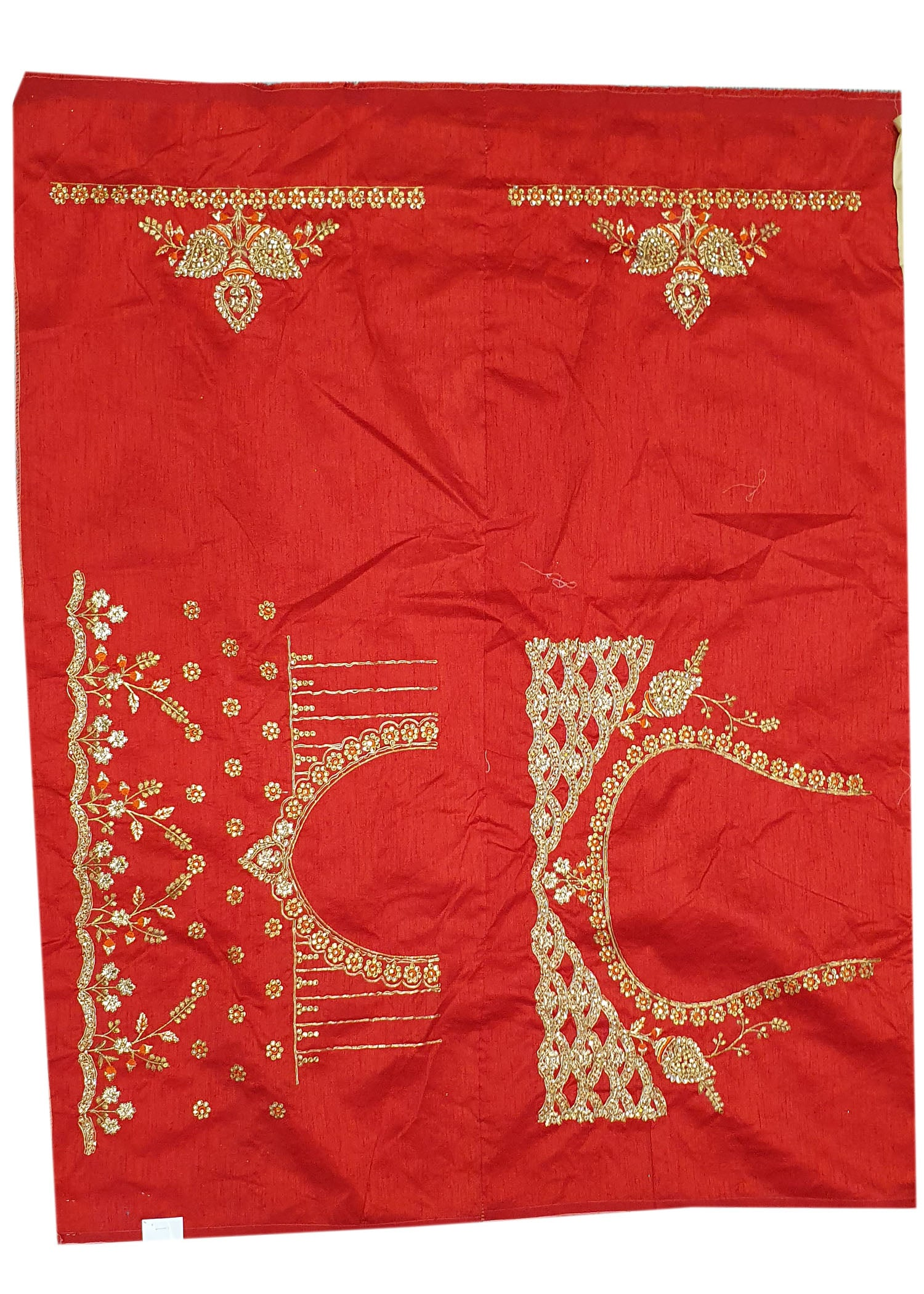 Gold Silk Heavy Embroidered Saree